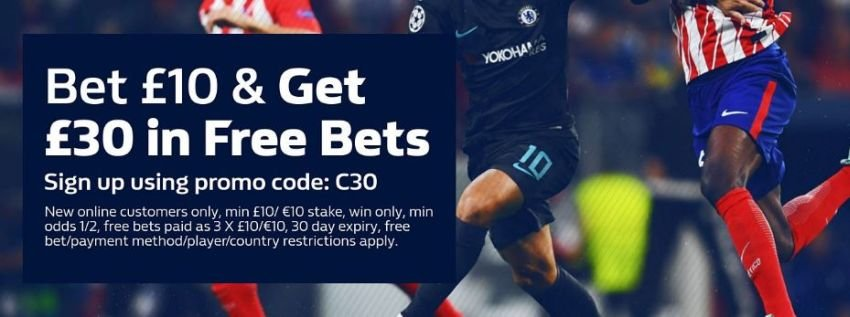 William Hill £30 free bet image